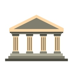 Temple of concordia at agrigento italy icon vector