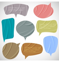 Set of silk speech bubbles vector