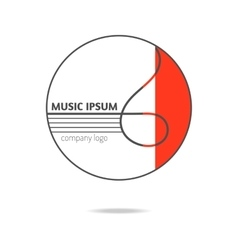 Treble clef music icon logo vector