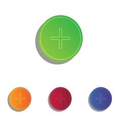 Positive symbol plus sign colorfull applique vector