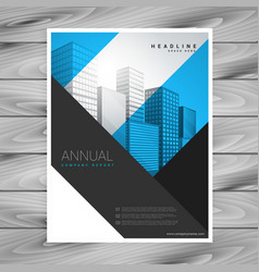 Abstract geometric shapes company flyer brochure vector