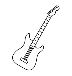 acoustic guitar icon outline style vector image vector image