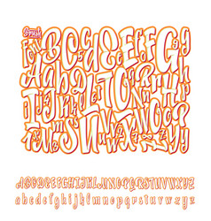 Alphabet calligraphic font unique custom vector