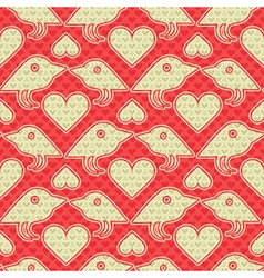 birds and hearts vector image vector image