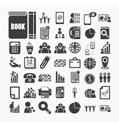 Business icons and Finance icons on White paper vector image
