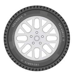 Car wheel isolated on a white background vector