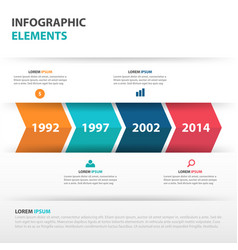 Colorful arrow business timeline infographics vector