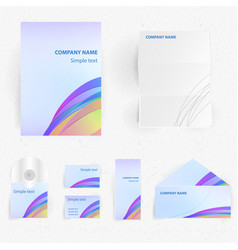 corporate identity design set vector image