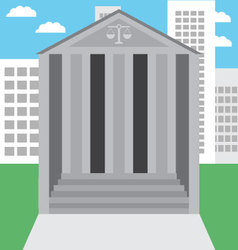 Courthouse building in the city vector