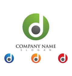 D letter logo template icon design vector