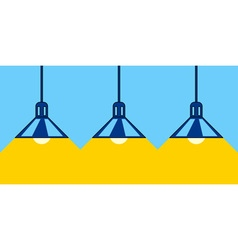 Lamps and light vector image