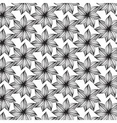 Line flower pattern on transparent background vector image