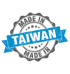 Made in taiwan round seal vector