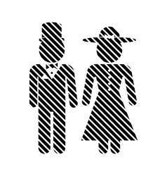 Male and female restroom symbol sign vector