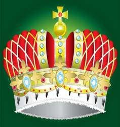 medieval royal crown vector image vector image