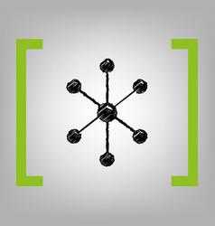 Molecule sign black scribble vector