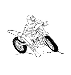 Motocrosser vector