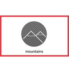 Mountain peaks contour outline vector image vector image