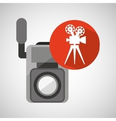 Movie video camera film retro vector