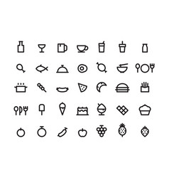 Outline icon food vector