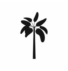 Palm icon in simple style vector