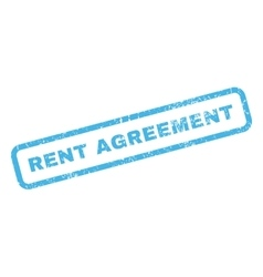 Rent agreement rubber stamp vector