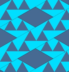 Retro 3d blue stripes with triangles crossed vector