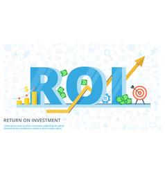 Return on investment - flat banner vector