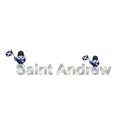 Saint andrew vector