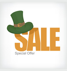 Saint patricks sale template celebration design vector