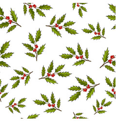 Seamless pattern with hand drawn tree vector