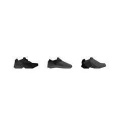 Three men sneakers in polygonal style vector