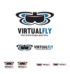 Virtual reality drone logo vector