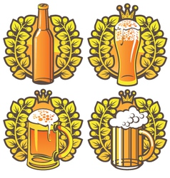Beer glasses vector
