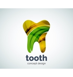 Tooth logo template vector
