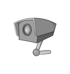 Surveillance camera icon black monochrome style vector image