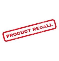 Product recall rubber stamp vector