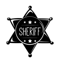The sheriff s badge wild west label western vector