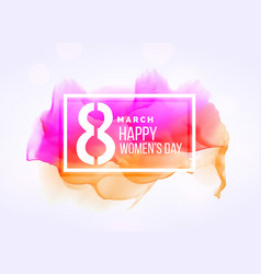 Creative march 8 womans day background with vector