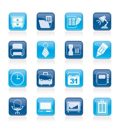 Business and office equipment icons vector