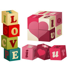 Valentine love games vector