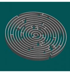 3d maze vector image