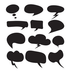 cloud speech bubble set1 resize vector image