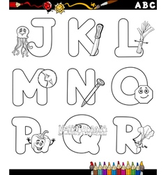 Alphabet for coloring book vector