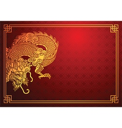Chinese dragon template 2 vector