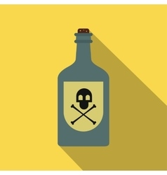Poison bottle flat icon vector