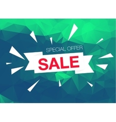 Super sale special offer banner on green vector