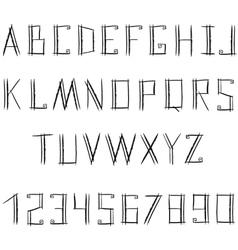 Grunge ink alphabet vector image