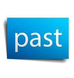Past blue paper sign on white background vector