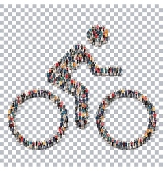 Cyclist sport people 3d vector